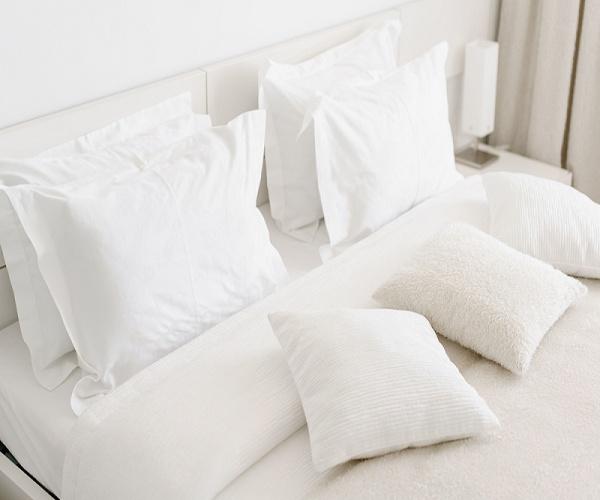 Chăn ga gối khách sạn cotton trắng trơn